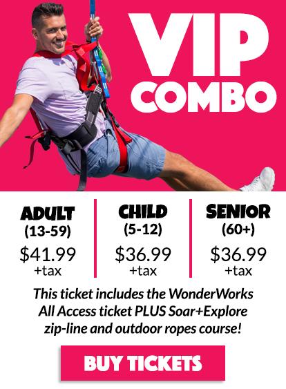 Myrtle Beach WonderWorks Ticket Prices