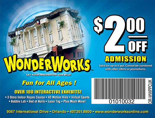 Wonderworks orlando discount coupons