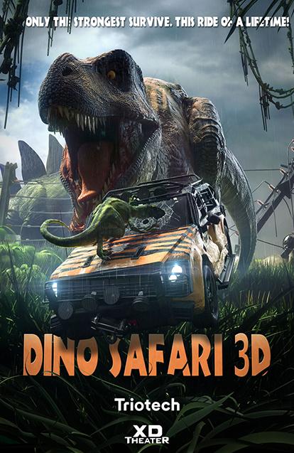 Dino Safari Ride Poster