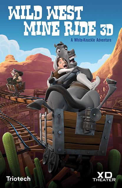 Wild Wild West Mine Ride Poster